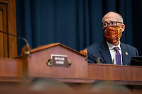 United States Representative Greg Walden (Republican of Oregon), ranking member, US House Energy and Commerce Committee, listens during a US House Energy and Commerce Committee hearing in Washington, D.C., U.S., on Tuesday, June 23, 2020. Trump administration health officials will tell lawmakers that their agencies are preparing for a flu season that will be complicated by the coronavirus pandemic. <br /> Credit: Sarah Silbiger / Pool via CNP/AdMedia
