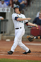 Cedar Rapids Kernels Max Murphy (23) swings during the game against the Clinton LumberKings at Veterans Memorial Stadium on April 15, 2016 in Cedar Rapids, Iowa.  Clinton won 11-5.  (Dennis Hubbard/Four Seam Images)