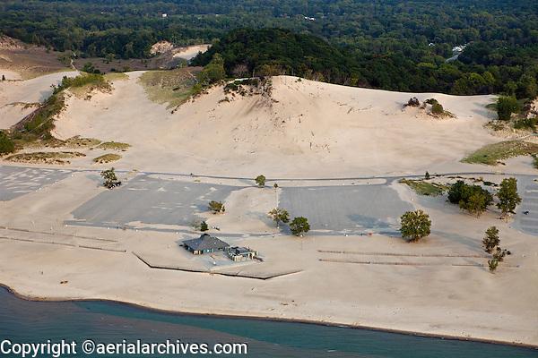 aerial photograph Warren Dunes State Park, Berrien County, Michigan