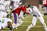 Southern Methodist Mustangs wide receiver Deion Sanders Jr. (2) in action during the game between the South Florida Bulls and the SMU Mustangs at the Gerald J. Ford Stadium in Fort Worth, Texas. USF defeats SMU 14 to 13.
