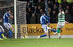 St Johnstone v Celtic…..29.01.20   McDiarmid Park   SPFL<br />Callum McGregor scores for Celtic<br />Picture by Graeme Hart.<br />Copyright Perthshire Picture Agency<br />Tel: 01738 623350  Mobile: 07990 594431