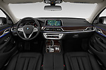 Stock photo of straight dashboard view of 2019 BMW 7-Series 740i 4 Door Sedan Dashboard