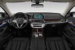 Stock photo of straight dashboard view of 2019 BMW 7-Series 740i 4 Door Sedan Dashboard