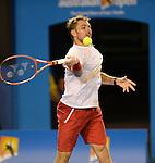 Stanislaus Wawrinka (SUI) defeats Rafael Nadal (ESP) 6-3, 6-2, 3-6, 6-3 in the finals at the Australian Open in Melbourne, Australia on January 26, 2014