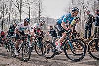 Wout Van Aert (BEL/Vérandas Willems-Crelan) up the Baneberg<br /> <br /> 81st Gent-Wevelgem in Flanders Fields (1.UWT)<br /> Deinze > Wevelgem (251km)
