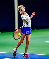 Hilversum, Netherlands, December 3, 2017, Winter Youth Circuit Masters, 12,14,and 16 years, Emily Schut (NED)<br /> Photo: Tennisimages/Henk Koster