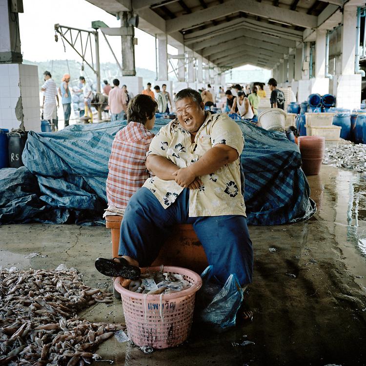 Ranong fish trader, Thailand.