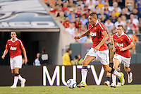 Federico Macheda (27) of Manchester United. Manchester United (EPL) defeated the Philadelphia Union (MLS) 1-0 during an international friendly at Lincoln Financial Field in Philadelphia, PA, on July 21, 2010.