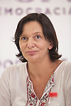 `Podemos´ political party member Carolina Bescansa during a press conference in Madrid, Spain. June 22, 2015. (ALTERPHOTOS/Victor Blanco)