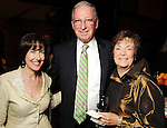 From left: Carol Goldberg with Dr. Robert Zeller and his wife Susan at the Holocaust Museum Houston's 2010 Lyndon Baines Johnson Moral Courage Award Dinner at the Hilton Americas Houston Monday May 03,2010.  (Dave Rossman Photo)