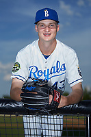 Burlington Royals pitcher Noah Murdock (43) poses for a photo prior to the game against the Danville Braves at Burlington Athletic Stadium on July 13, 2019 in Burlington, North Carolina. The Royals defeated the Braves 5-2. (Brian Westerholt/Four Seam Images)