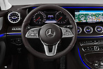 Car pictures of steering wheel view of a 2019 Mercedes Benz CLS Coupe AMG line 4 Door Sedan