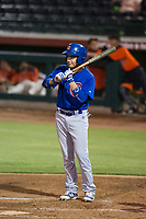 AZL Cubs second baseman Carlos Sepulveda (16) at bat against the AZL Giants on September 5, 2017 at Scottsdale Stadium in Scottsdale, Arizona. AZL Cubs defeated the AZL Giants 10-4 to take a 1-0 lead in the Arizona League Championship Series. (Zachary Lucy/Four Seam Images)