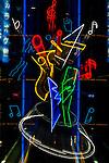 Japan, Tokyo, Shinjuku, Karaoke Neon Sign (Zoom Effect)
