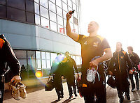 Photo: Richard Lane/Richard Lane Photography. Wasps Open Training Session at the Ricoh Arena ahead of their first game at the stadium. 16/12/2014. James Haskell photographs the Arena.