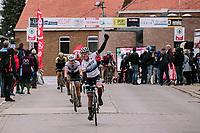 Marta Bastianelli (ITA/Team Virtu Cycling) wins the 2019 Omloop van het Hageland <br /> <br /> 133km from Tienen to Tielt - Winge (BEL)<br /> <br /> ©JoJo Harper for Kramon