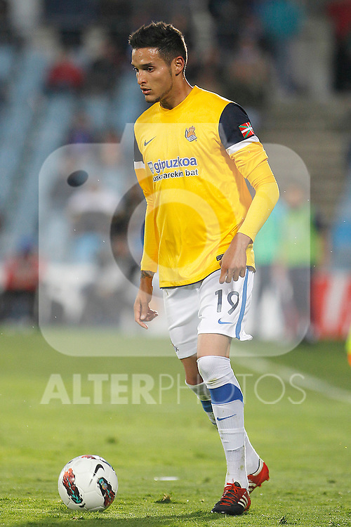 Real Sociedad's Liassine Cadamuro during La Liga match.March 17,2012. (ALTERPHOTOS/Acero)