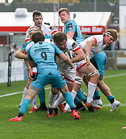 Sunday 25th October 2020   Ulster vs Dragons<br /> <br /> 25 October 2020; John Andrew drives over to score the six try for Ulster against the Dragons during the Guinness PRO14 match between Ulster and Dragons at Kingspan Stadium in Belfast. Photo by John Dickson / Dicksondigital