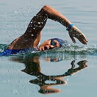 Alessio Occhipinti  <br /> Vigna di Valle 17-06-2017 <br /> Campionato Italiano FIN Nuoto di Fondo <br /> Staffetta 4x1250 <br /> Foto Andrea Staccioli/Insidefoto/Deepbluemedia