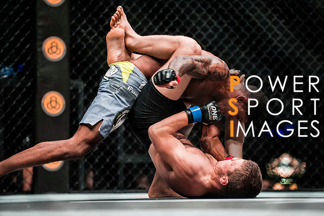 One Championship - Heroes of the World Interim Flyweight World Championship Tilek Batyrov of Kyrgyzstan vs Adriano Moraes of Brazil on 13 August 2016 at The Venetian Macao Cotai Arena in Macau, China. Photo by Marcio Machado / Power Sport Images