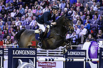 OMAHA, NEBRASKA - APR 2: Leopold Van Asten rides VDL Groep Zidane N.O.P. during the Longines FEI World Cup Jumping Final at the CenturyLink Center on April 2, 2017 in Omaha, Nebraska. (Photo by Taylor Pence/Eclipse Sportswire/Getty Images)