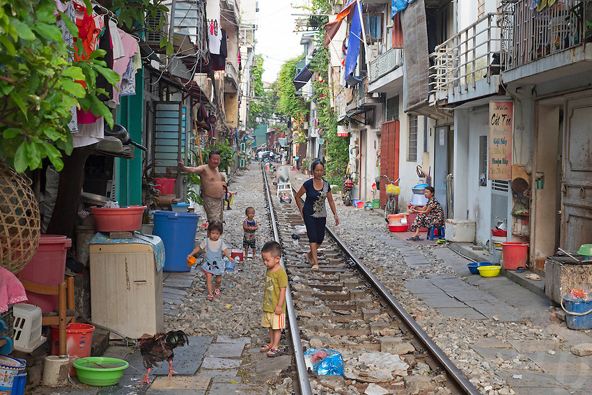 People living along the famed Hanoi Railway line.<br /> Hanoi, the capital of Vietnam, is known for its centuries-old architecture and a rich culture with Southeast Asian, Chinese and French influences. At its heart is the chaotic Old Quarter, where the narrow streets are roughly arranged by trade. There are many little temples, including Bach Ma, honoring a legendary horse, plus Đồng Xuân Market, selling household goods and street food.