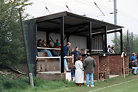 The main stand at Knebworth Football Club, Hertfordshire