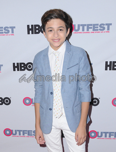 """17 July 2016 - Los Angeles, California. J.J. Totah. Arrivals for 2016 Outfest Los Angeles Closing Night Gala Of """"Other People"""" held at The Theatre at Ace Hotel . Photo Credit: Birdie Thompson/AdMedia"""