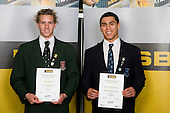 Boys Swimming finalists Starn Simpson & Orinoco Fa'amausils-Banse-Prince. ASB College Sport Young Sportperson of the Year Awards 2008 held at Eden Park, Auckland, on Thursday November 13th, 2008.