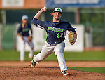 12 July 2015: Vermont Lake Monsters pitcher Jonathan Massad on the mound against the West Virginia Black Bears at Centennial Field in Burlington, Vermont. The Lake Monsters came back from a 4-0 deficit to defeat the Black Bears 5-4 in NY Penn League action. Mandatory Credit: Ed Wolfstein Photo *** RAW Image File Available ****