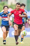 Mark Anthony (r) of Singapore in action during the match between South Korea and Singapore of the Asia Rugby U20 Sevens Series 2016 on 12 August 2016 at the King's Park, in Hong Kong, China. Photo by Marcio Machado / Power Sport Images