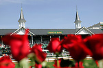 A view of the twin spires at Churchill Downs in Louisville, Kentucky on May 6, 2006.  Barbaro, ridden by Edgar Prado, won the 132nd Kentucky Derby in the tenth race of the day......