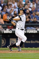 July 5, 2008: Ichiro Suzuki of the Seattle Mariners at-bat during a game against the Detroit Tigers at Safeco Field in Seattle, Washington.