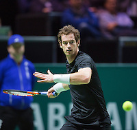 Februari 13, 2015, Netherlands, Rotterdam, Ahoy, ABN AMRO World Tennis Tournament, Andy Murray (GBR) <br /> Photo: Tennisimages/Henk Koster