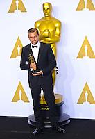 Leonardo Di Caprio @ the 88th Academy Awards held @ the Dolby theatre.<br /> February 28, 2016