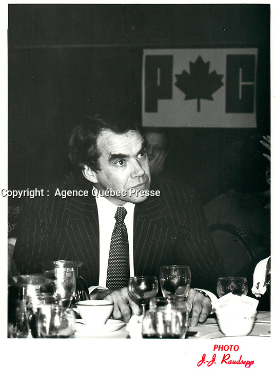 Heenan Blaikie law firm co-founder and Progressive Conservative candidate Peter Blaikie, jan 26, 1979<br /> <br /> PHOTO : JJ Raudsepp  - Agence Quebec presse
