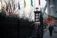 CHINA. Shanghai. Muslim men near the Oriental Pearl Tower. Shanghai is a sprawling metropolis or 15 million people situated in south-east China. It is regarded as the country's showcase in development and modernity in modern China. This rapid development and modernization, never seen before on such a scale has however spawned countless environmental and social problems. 2008