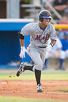 Ryan Molica #24 of the Kingsport Mets hustles down the first base line versus the Burlington Royals at Burlington Athletic Park July 3, 2009 in Burlington, North Carolina. (Photo by Brian Westerholt / Four Seam Images)