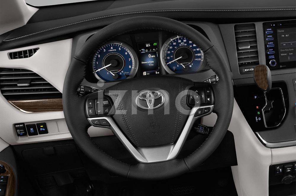 Car pictures of steering wheel view of a 2020 Toyota Sienna XLE 5 Door Mini Van