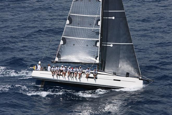 The Lombard 46 Pata Negra when she brought RORC Caribbean 600 success for Howth YC. This evening at 18:10 she rounded the Fastnet Rock lying first in IRC Class 1 with Andrew Hall of ISORA and Pwllheli SC in command.