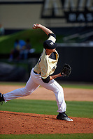 UCF Knights relief pitcher Harrison Hukari (33) delivers a pitch during a game against the Siena Saints on February 21, 2016 at Jay Bergman Field in Orlando, Florida.  UCF defeated Siena 11-2.  (Mike Janes/Four Seam Images)