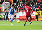 Aberdeen v St Johnstone…14.09.19   Pittodrie   SPFL<br />Michael O'Halloran scores his goal<br />Picture by Graeme Hart.<br />Copyright Perthshire Picture Agency<br />Tel: 01738 623350  Mobile: 07990 594431