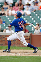 August 9, 2009:  Third Baseman Matt Camp of the Iowa Cubs during a game at Wrigley Field in Chicago, IL.  Iowa is the Pacific Coast League Triple-A affiliate of the Chicago Cubs.  Photo By Mike Janes/Four Seam Images