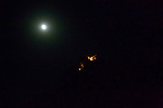 Moon & St. Hilarion Castle At Night