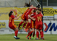 20180307 - LARNACA , CYPRUS : Spain pictured celebrating during a women's soccer game between Italy and Spain , on wednesday 7 March 2018 at the AEK Arena in Larnaca , Cyprus . This is the final game for the first place  for  Italy and  Spain on the Cyprus Womens Cup , a prestigious women soccer tournament as a preparation on the World Cup 2019 qualification duels. PHOTO SPORTPIX.BE | DAVID CATRY