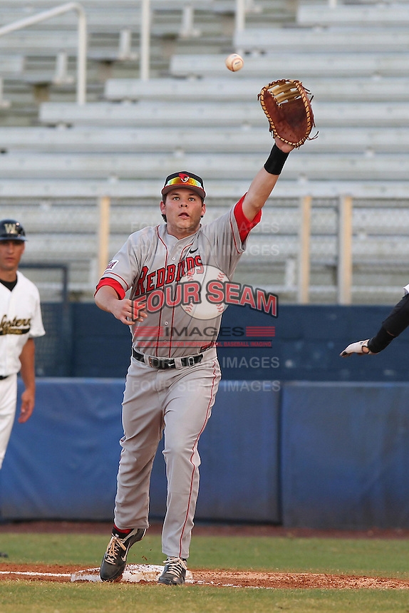 Illinois State Redbirds Kyle Stanton #30 during a game against the Western Michigan Broncos at Chain of Lakes Stadium on March 10, 2012 in Winter Haven, Florida.  Illinois State defeated Western Michigan 10-9.  (Mike Janes/Four Seam Images)