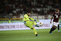 Calcio, Serie A: Torino - Sassuolo, Olympic stadium Grande Torino, August 25, 2019.<br /> Torino's goalkeeper Salvatore Sirigu in action during the Italian Serie A football match between Torino and Sassuolo at Olympic stadium Grande Torino, August 25, 2019.<br /> UPDATE IMAGES PRESS/Isabella Bonotto