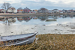 Boats at the town landing in Winthrop, Massachusetts, USA