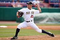 Brevard County Manatees pitcher Brian Garman #23 during a game against the Clearwater Threshers at Space Coast Stadium on April 30, 2012 in Viera, Florida.  Clearwater defeated Brevard County 5-1.  (Mike Janes/Four Seam Images)