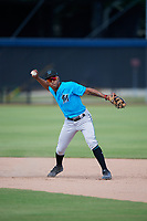 Miami Marlins shortstop Nasim Nunez (4) during practice before an Instructional League game against the Washington Nationals on September 26, 2019 at FITTEAM Ballpark of The Palm Beaches in Palm Beach, Florida.  (Mike Janes/Four Seam Images)
